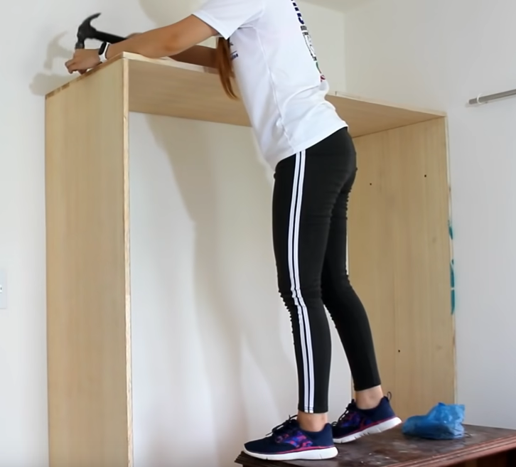 How to make fitted wardrobe frame